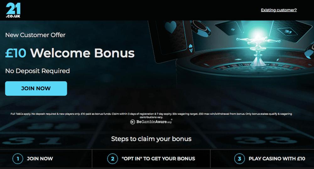 21.co.uk bonus