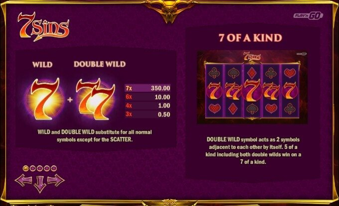Play 7 Sins slot at Betsafe casino
