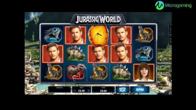 Jurassic World slot trailer - Casinohawks
