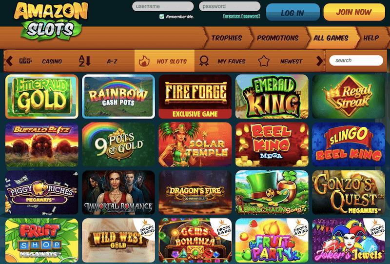 Amazon Slots UK review - slot games