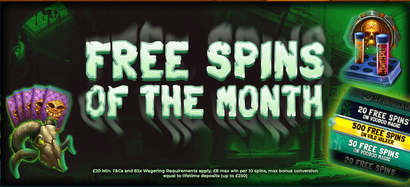 Amazon Slots - free spins of the month