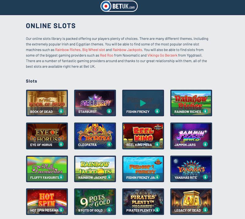 Bet UK - slots