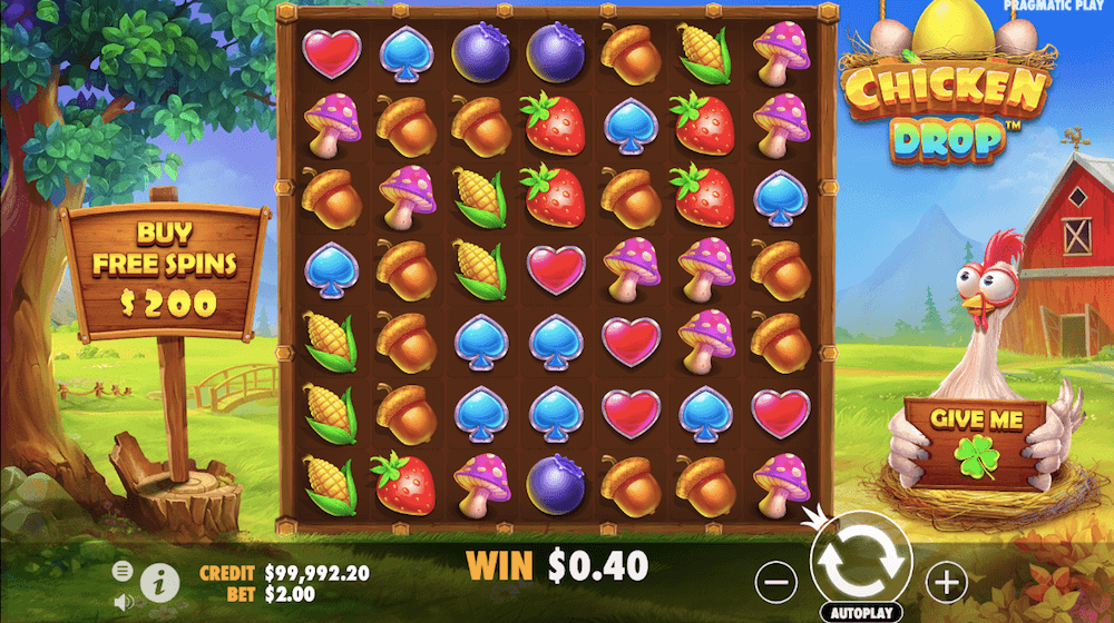 chicken drop slot review