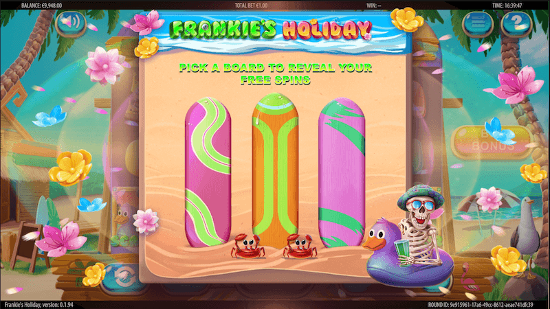 Frankies Holiday - free spins feature
