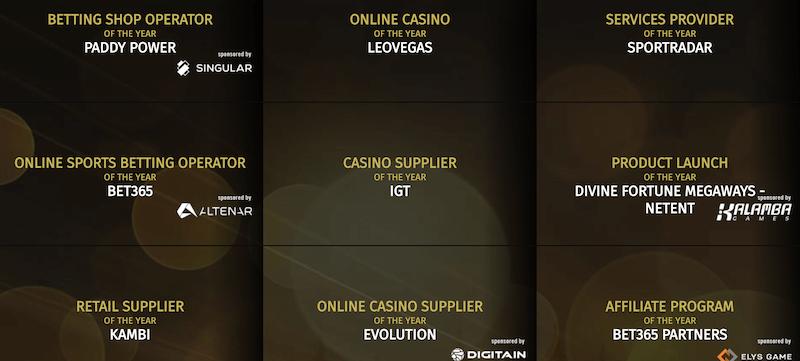 Global Gaming Awards - winners