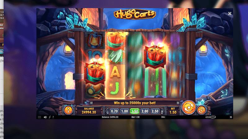 Hugo Carts - scatter re-spins trigger