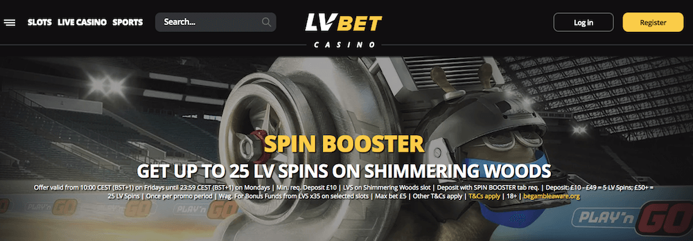 LVBet casino weekly spins