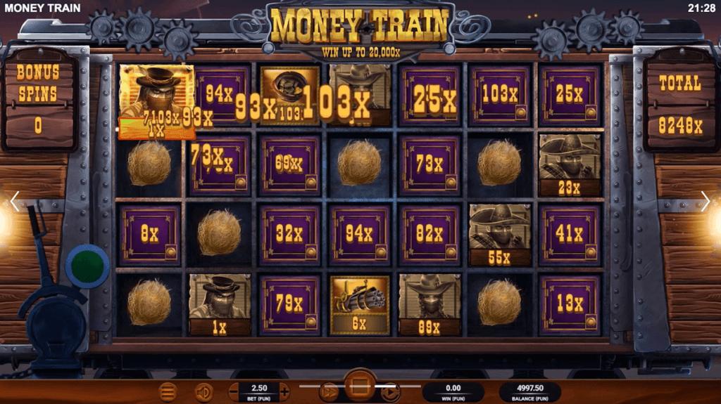 Money train slot bonus round