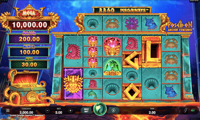 poseidon ancient fortunes slot