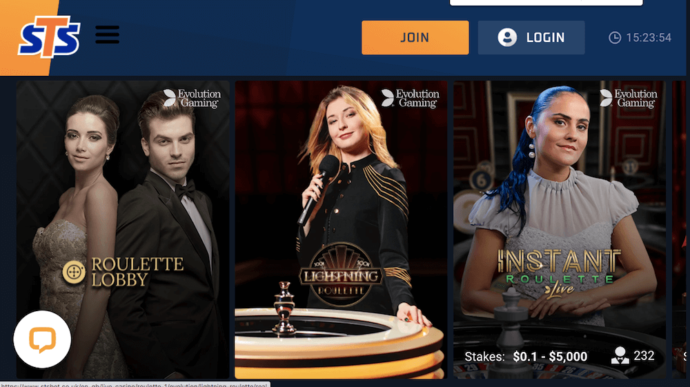 sts casino uk live casino