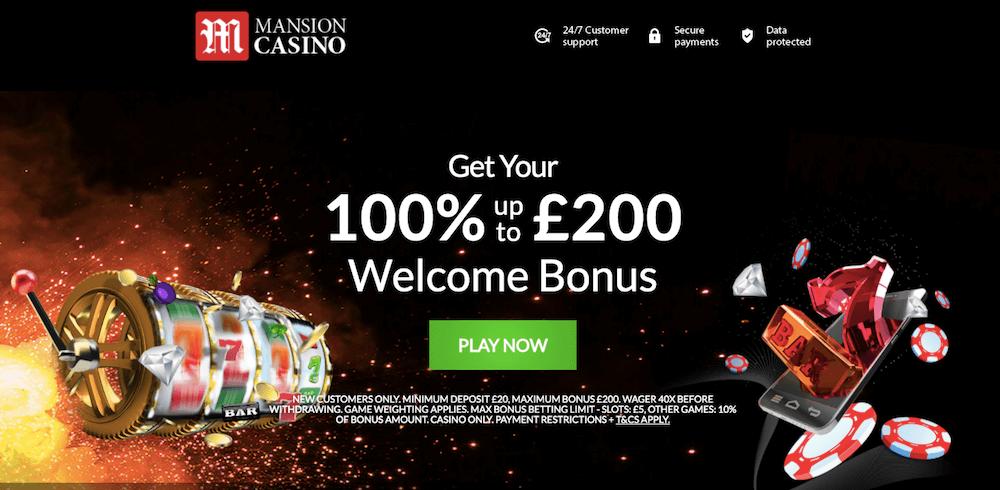 mansion casino bonus uk