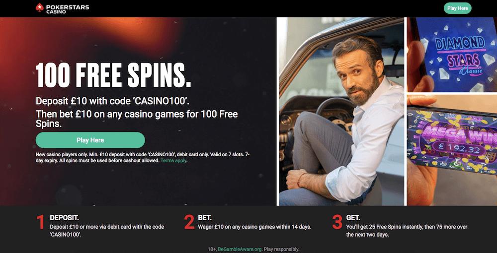 poker stars free spins