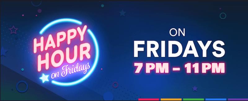 SlotsMillion - Friday Happy Hour Bonus