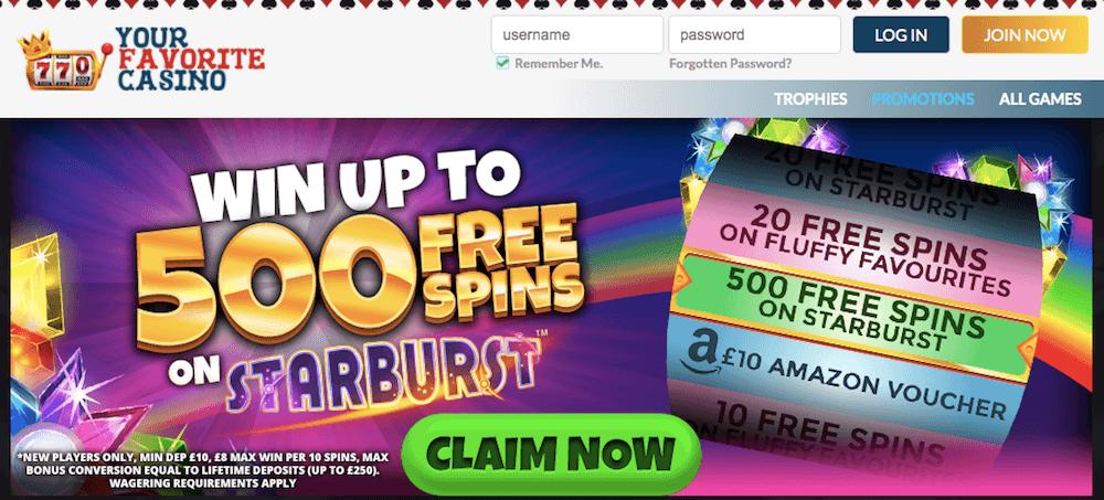 Your Favourite Casino Welcome Bonus