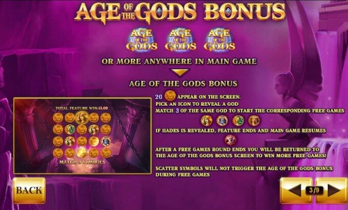 Play Age of the Gods at Paddy Power casino