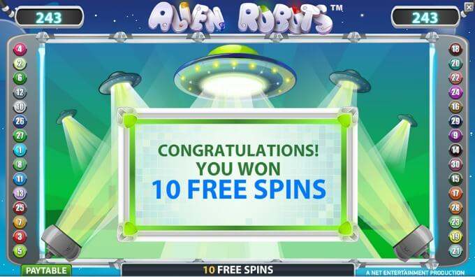 Play Alien Robots slot at Dunder Casino