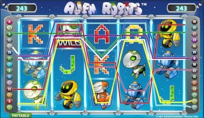 Play Alien Robots at Rizk casino