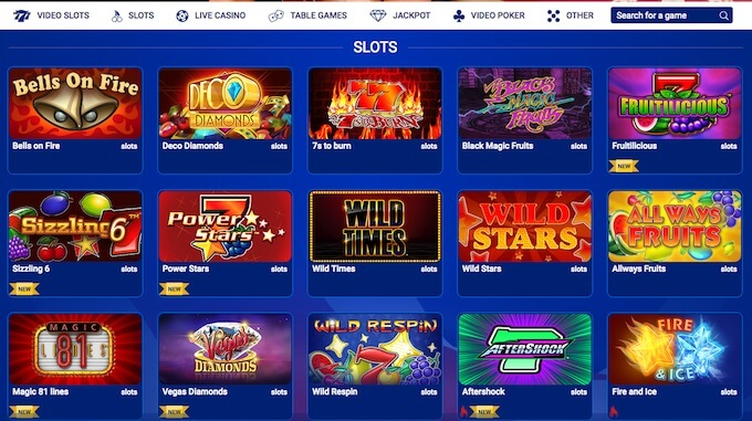 online slots at All British Casino