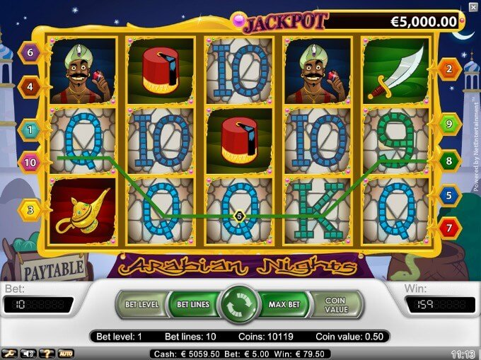 Play Arabian Nights slot at Betsafe Casino