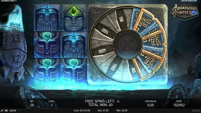 Asgardian Stones slot Bonus Wheel