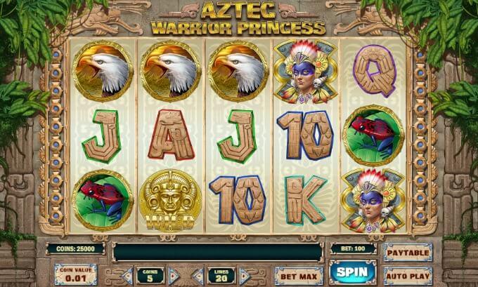 Aztec Warrior Princess slot gameplay