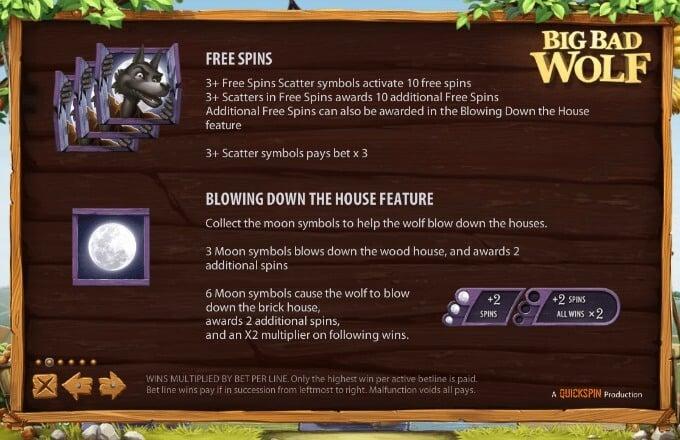 Play Big Bad Wolf slot at LeoVegas casino
