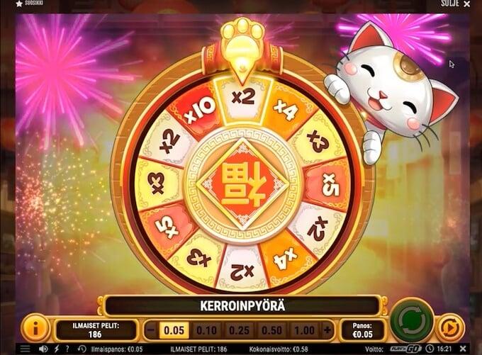 Big Win Cat slot Wheel of Multipliers