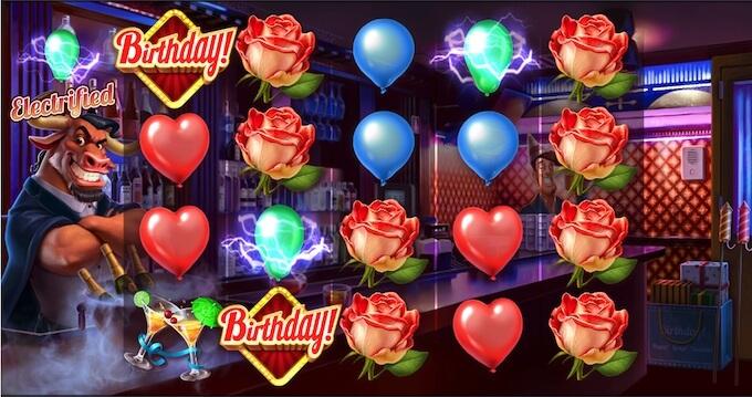 Birthday! slot electrified symbols
