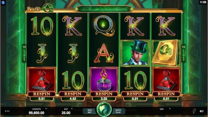 Wizard of Oz slot Microgaming
