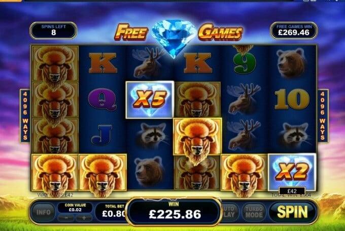 Play Buffalo Blitz at VideoSlots casino