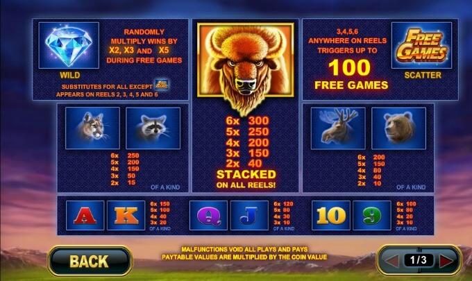 Play Buffalo Blitz at Paddy Power Casino