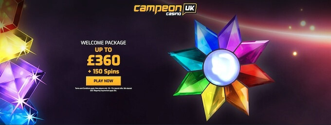 CampeonUK Casino Welcome Bonus UK