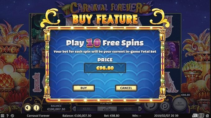 Carnival Fever buy feature