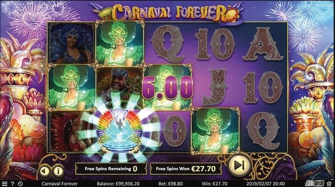 Carnival Fever slot free spins