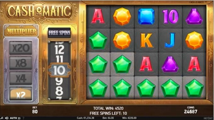 Cash-O-Matic free spins