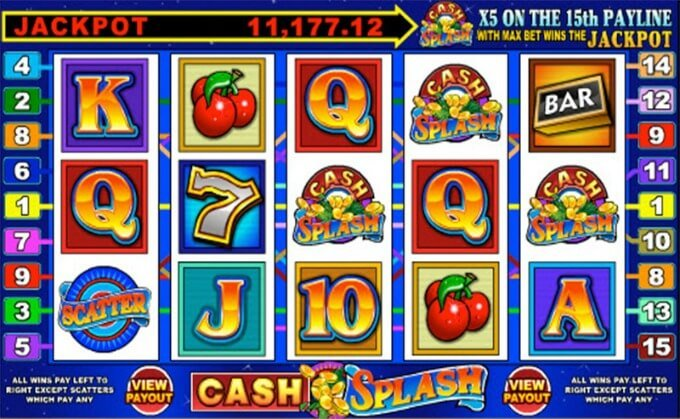 Play Cash Splash slot at Betsafe casino