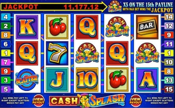 Play Cash Splash slot at Betsafe casino