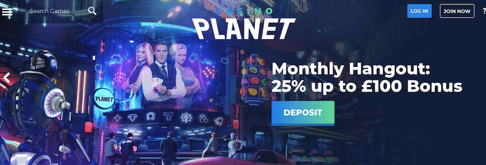 casino planet monthly bonus