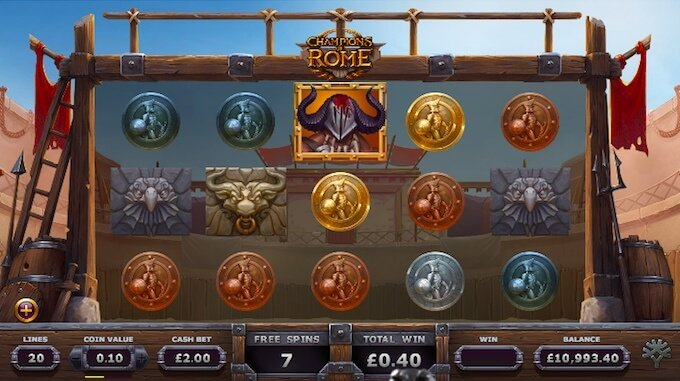 Champions of Rome slot Yggdrasil