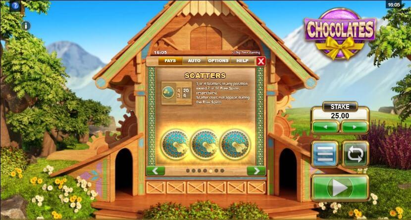 Chocolates bonus game