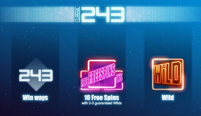 Play Classic 243 slot at LeoVegas casino