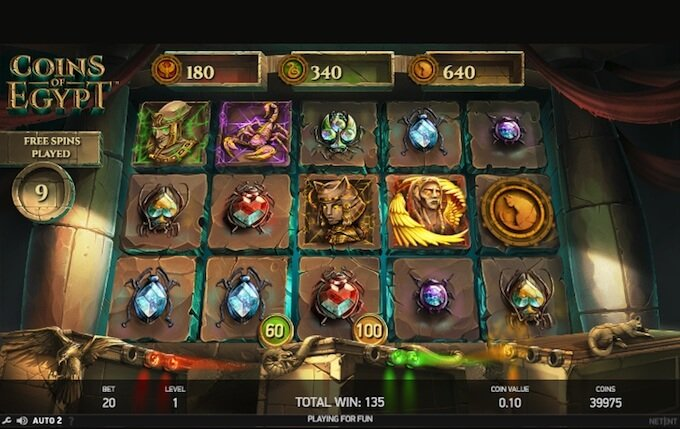 Coins of Egypt slot free spins