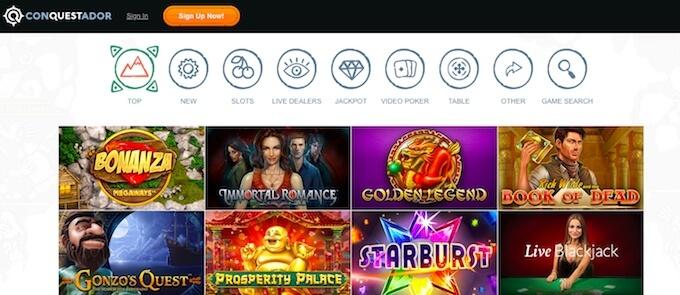 Conquestador online casino games