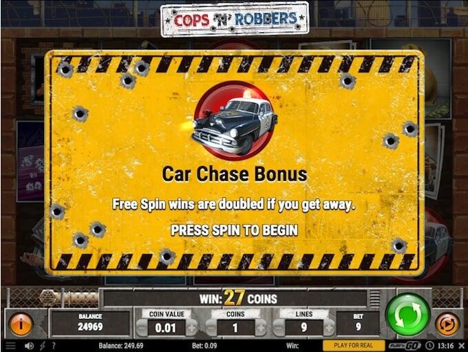cops n robbers slot free spins