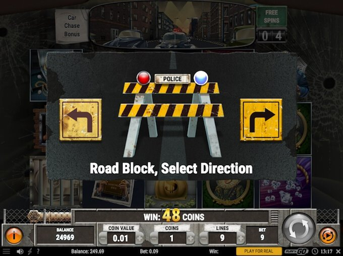 Cops n robbers slot bonus game