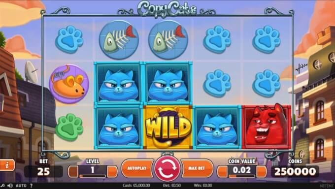 Play Copy Cats slot at Casumo casino