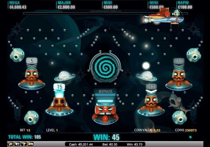 Play Cosmic Fortune slot at InstaCasino