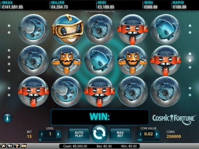 Play Cosmic Fortune slot at LeoVegas casino
