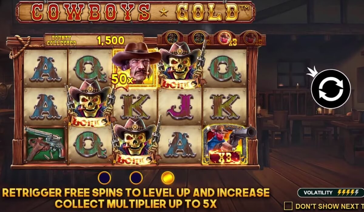 Cowboys Gold free spins