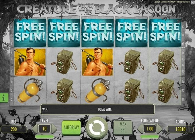 Play Creature from the Black Lagoon slot at Betsafe casino